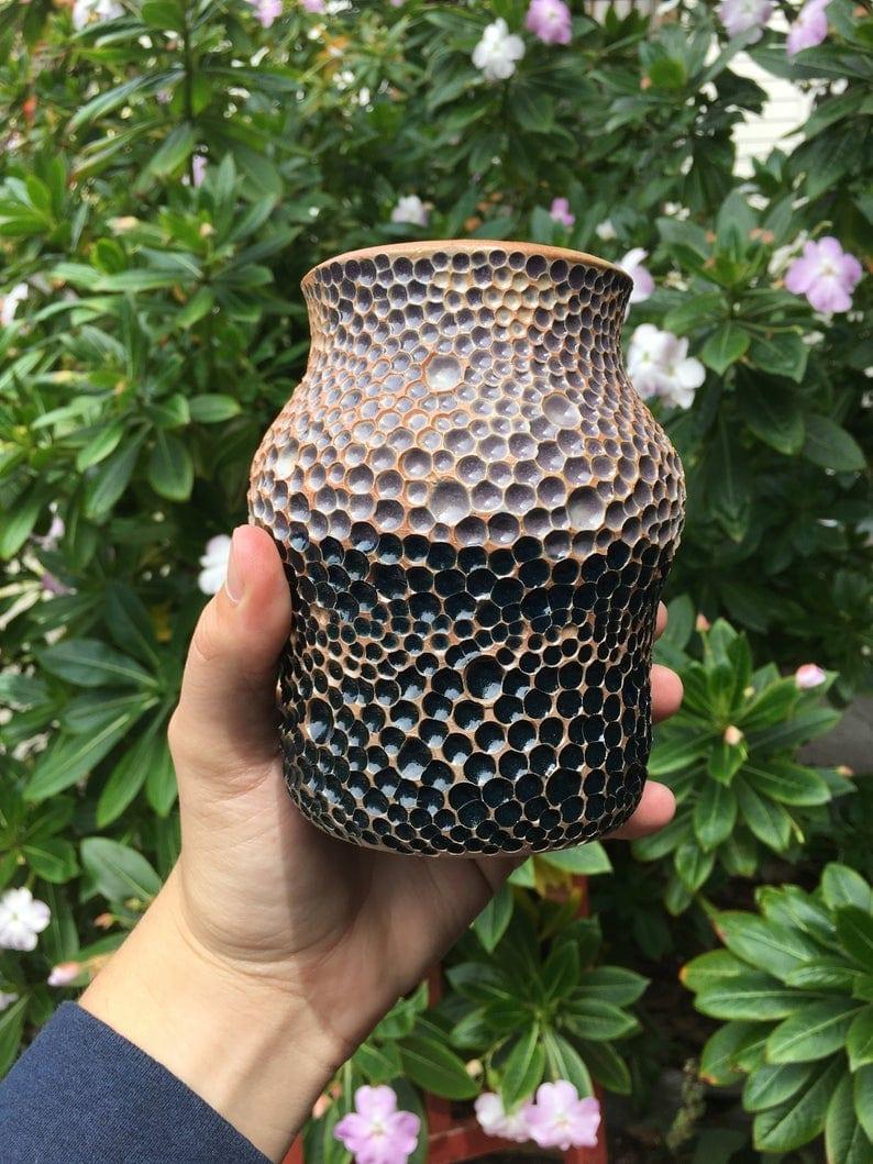 decorative purple vase