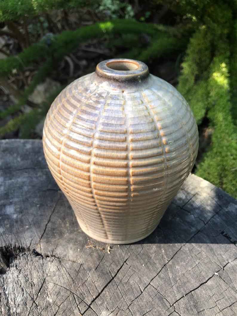 geometric bud vase