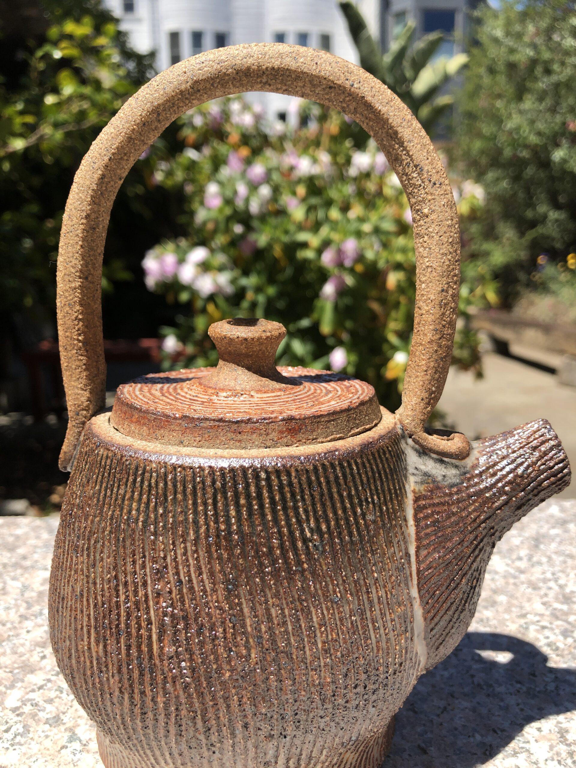 stoneware tea pot