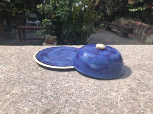 purple butter dish