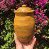 yellow brown jar