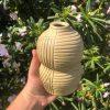 yellow bud vase