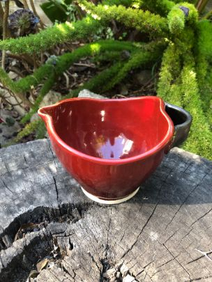 red mixing bowl
