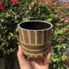 brown yellow planter