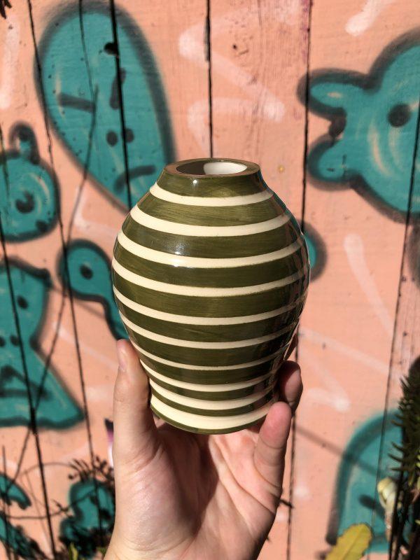 green white vase
