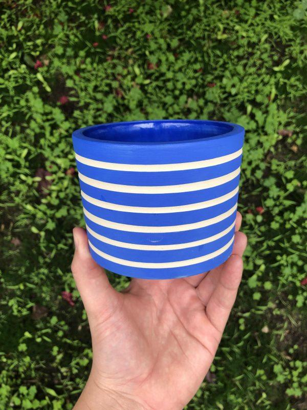 blue planter