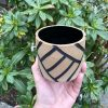 brown black planter